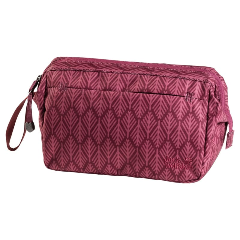 Space Talent Washbag OneSize, Garnet Red Geometric Leaves