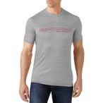 Smartwool m striped logo tee light grey
