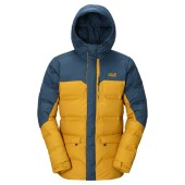 Jack wolfskin downshell parka men golden yellow