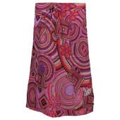 Skhoop summer long skirt cerise pattern