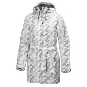 Helly hansen w lyness insulated coat offwhite print