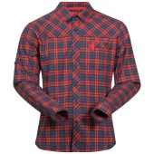 Bergans granvin shirt navy br red check