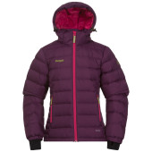 Bergans down youth girl jacket plum hot pink lime