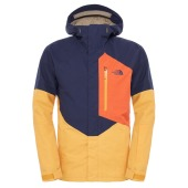The north face m nfz insulated jacket cosmic blue traverse yellow zi