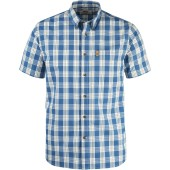 Fjallraven ovik button down shirt ss lake blue
