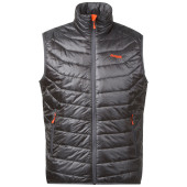 Bergans valdres lt ins vest soliddkgrey koi orange