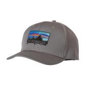 Patagonia 73 logo roger that hat feather grey