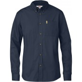 Fjallraven ovik solid twill shirt ls dark navy