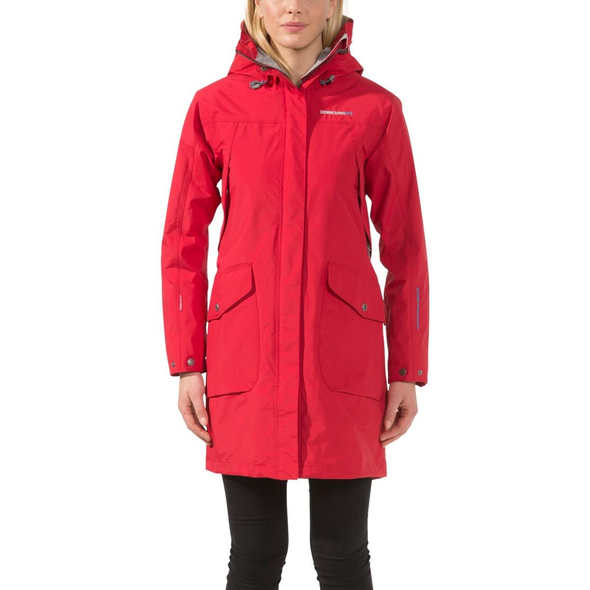 Röd fin vatten- och vindskyddad Thelma jacka