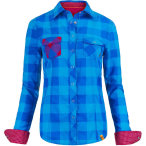 Ortovox women s rock n wool cool shirt long sl blue ocean