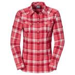Jack wolfskin seal river shirt women grapefruit checks