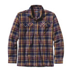 Patagonia men s ls fjord flannel shirt saucer pass classic navy