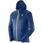 Salomon fast wing hoodie m midnight blue