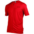 Poc trail light zip tee pewter red
