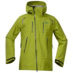 Bergans glittertind jacket lime green tea light seablue