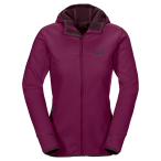 Jack wolfskin glacier valley ii jacket w wild berry