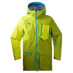 Bergans hodlekve jacket lime bright seablue