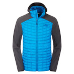 The north face m thermoball hybrid hoodie quill blue asphalt grey