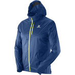 Salomon fast wing hoodie m midnight blue