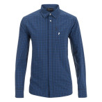 Peak performance gust checked ls shirt dark blue checked