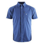 Peak performance gust checked ss shirt blue checked